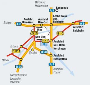 Lageplan Autobahn Übersicht